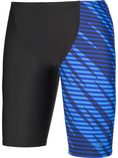 speedo Allover Panel V Cut Spodenki kąpielowe Dzieci niebieski/czarny